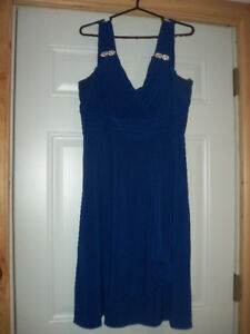 Bridesmaid dress Size 16 Waterfall Style Navy Blue