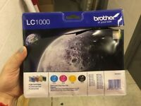 LC1000 Brother Printer Ink Cartridges x4 (Cyan/Magenta/Yellow/Black)