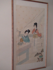 c.1960 Japanese Painted Silk Picture