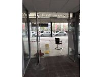 Toughened Double Glass Doors Office Shop Partition