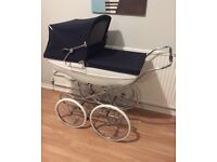 **SILVER CROSS Kensington TENBY Pram + NEW Tray + Mattress EXCELLENT Condition