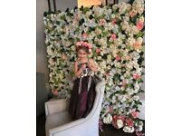 FLOWER WALL FOR EVENTS £239 7*7ft FREE DELIVERY
