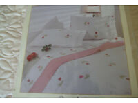 DOUBLE BED FLANNEL SHEET SET 100% COTTON PINK.. .NEW
