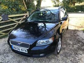 Volvo v50 se d estate, with allow wheels and dog guard