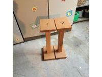 handmade oak speaker stands