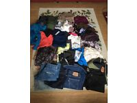 Womens bundle job lot - Size 12 to 14, tops trousers skirts Some new items BNWT