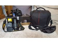 REDUCED Nikon D3200 SLR Camera with 2x Nikkor ED Lenses (15-55mm and 55-200mm)