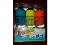 Nail varnish blue, yellow & orange 48 units