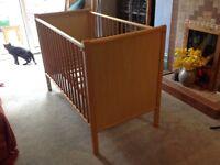 Mcclaren wooden cot. .