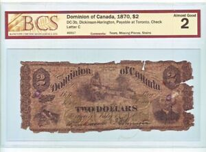 RARE Canadian banknote