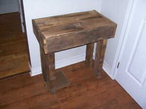 Rustic Barn Board Side Table 28 by 15 and 29 Tall