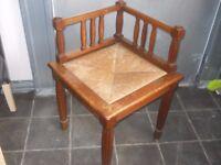 oak corner chair