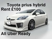 PCO CAR RENT/HIRE TO BUY TOYOTA PRIUS HYBRID FROM £ 120/week