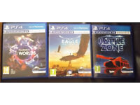 PSVR Games (Battlezone, Eagle Flight, VR Worlds)