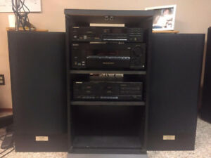 Sony 5.1 AV Receiver with Pioneer Tape Deck & CD Player