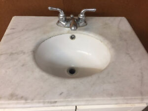 Marble Vanity for Bathroom with Faucet
