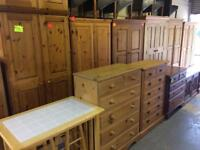 Solid wood / pine single, double and triple wardrobe