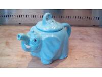 Blue Elephant Novelty Teapot