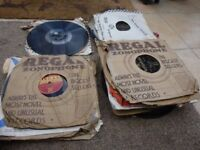 COLLECTION OF SIXTY 78 rpm POPULAR RECORDS FROM 1950's.