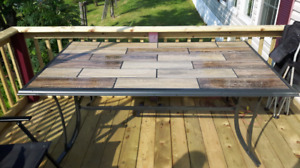Slate patio table