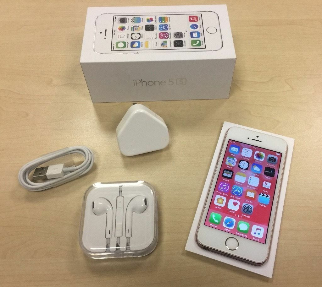 apple iphone 5s gold. boxed rose gold apple iphone 5s 16gb factory unlocked mobile phone + warranty iphone 5s