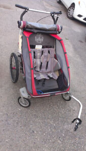 Double Chariot stroller with bike attachment