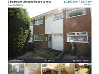 3 bed House to rent - Knaphill, £1200pcm available now **fee contribution**