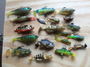 Assorted Pre Hooked Soft Plastic Fishing Lures