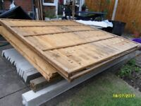 15 Gravel Boards, 4 Fence Panels (2 New/2 used but in good condition) & 1 Corner Post