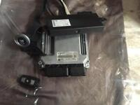 BMW e87 118d ecu kit with key and stop start button ect