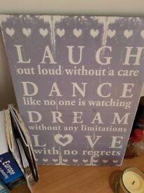 Wall Art - Laugh, Dance, Dream, Love