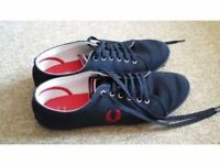 Fred Perry Kingston Twill Tipped Trainer Shoe Size 10