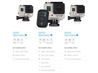 GoPro Hero 3+ Silver Edition - With loads of accessories!