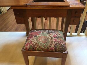 Antique Sewing Table and Bench