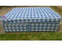 Layezee Double 4'6'' Divan Bed, Storage under & Headboard