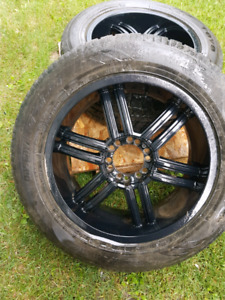 Must sell!! Multi fit rims and tires