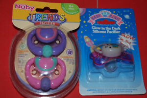 Pacifier pink purple - Nuby Orthodontic 6+1 pcs Sealed, New