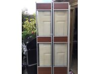 Retro bi folding doors x 2