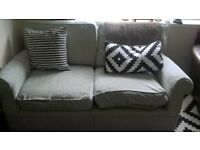 M&S pale mint green textured sofa £15