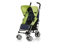 BRAND NEW IN BOX HAUCK ROMA LIGHTWEIGHT UMBRELLA FOLD STROLLER BUGGY PUSHCHAIR PRAM IN LIME/NAVY