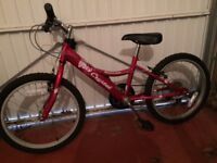 """Kids (girls) bike Crystal 12"""" frame with 6 gears (Almost new)"""