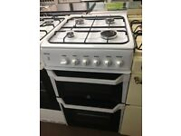 50CM WHITE INDESIT GAS COOKER