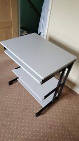 Grey pc desk