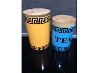 2 Vintage Portmeirion Kitchen Storage Canisters/Containers PRICE LOWERED