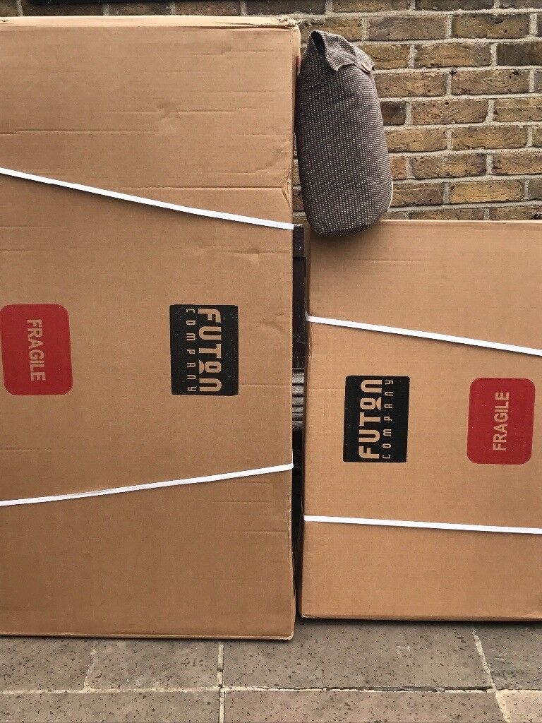 Futon company 2 seater oke with coverin Wood Green, LondonGumtree - Futon company still in boxes complete frame brand new with aldeburgh cover. No futon as my pet staff had a good munch on it and did not leave much behind the cover is for a 3 panel futon
