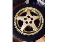 16inch gold sti alloy wheels with tyres quick sales