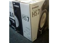 Yamaha HS7 Pair (Monitors/Speakers, Black) - Like New Condition