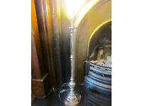 Very Tall Silver Coloured Table Lamp Base V V G C