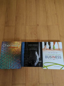 CAL,CHEM AND BUSINESS BOOKS FOR SALE