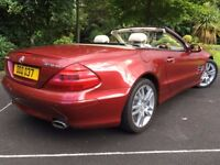 2002 Mercedes SL500 Amber Red paint Beige Leather & wood V8 5-Litre Automatic Hard Top Convertible